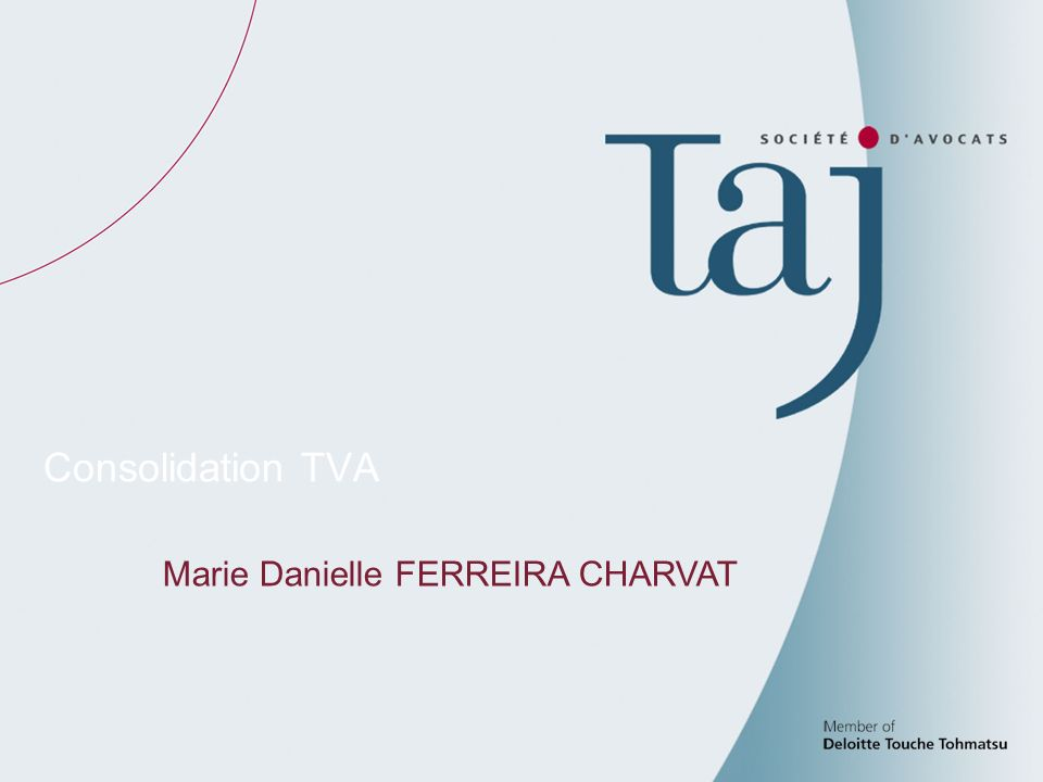 54 Consolidation TVA Marie Danielle FERREIRA CHARVAT