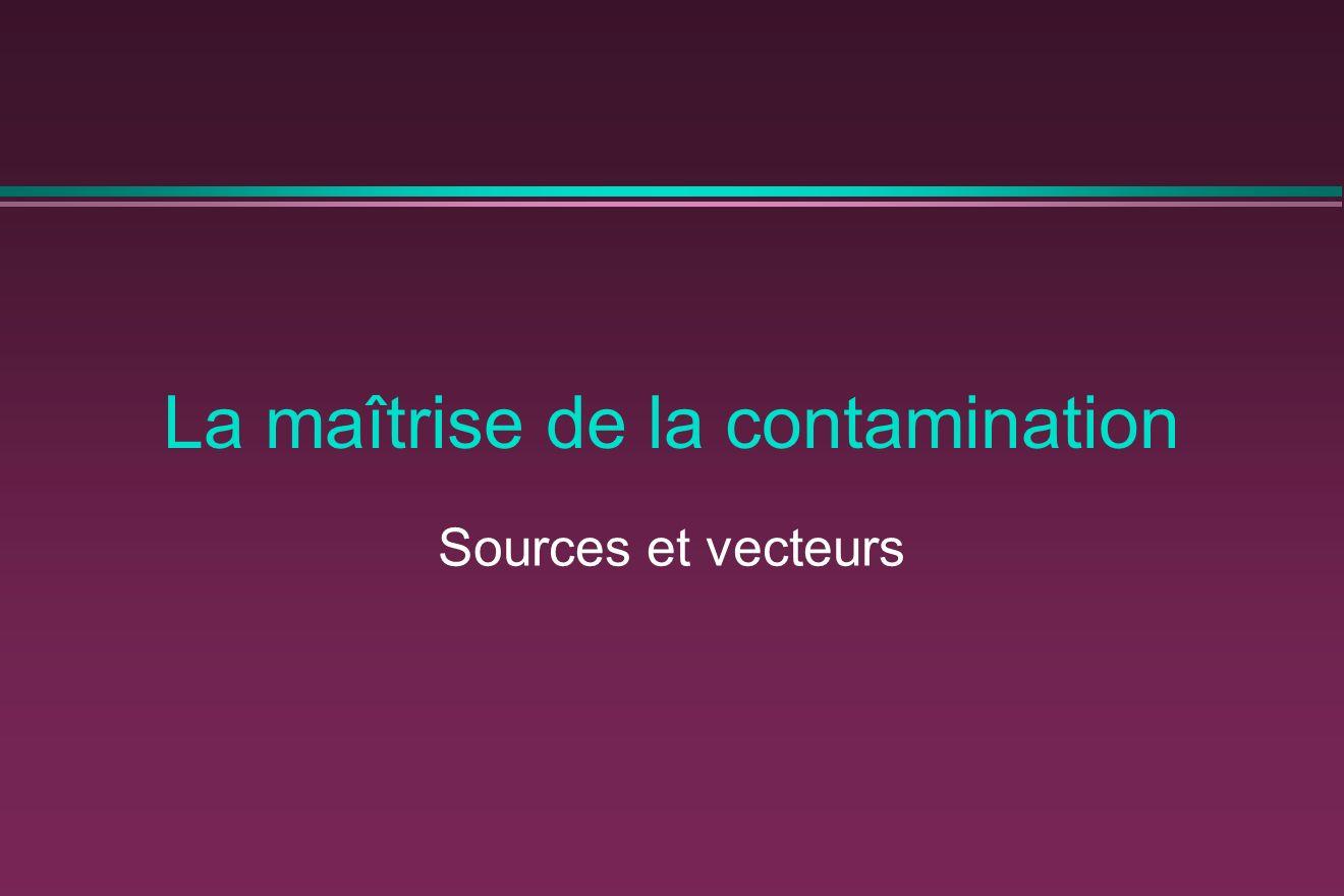La maîtrise de la contamination Sources et vecteurs