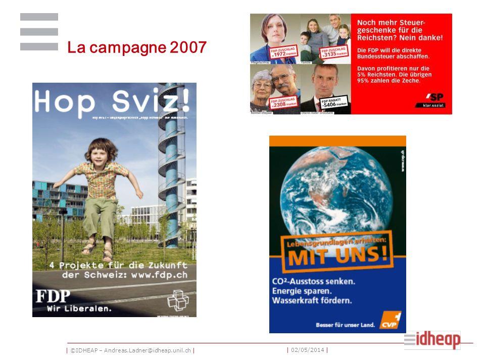 | ©IDHEAP – Andreas.Ladner@idheap.unil.ch | | 02/05/2014 | La campagne 2007