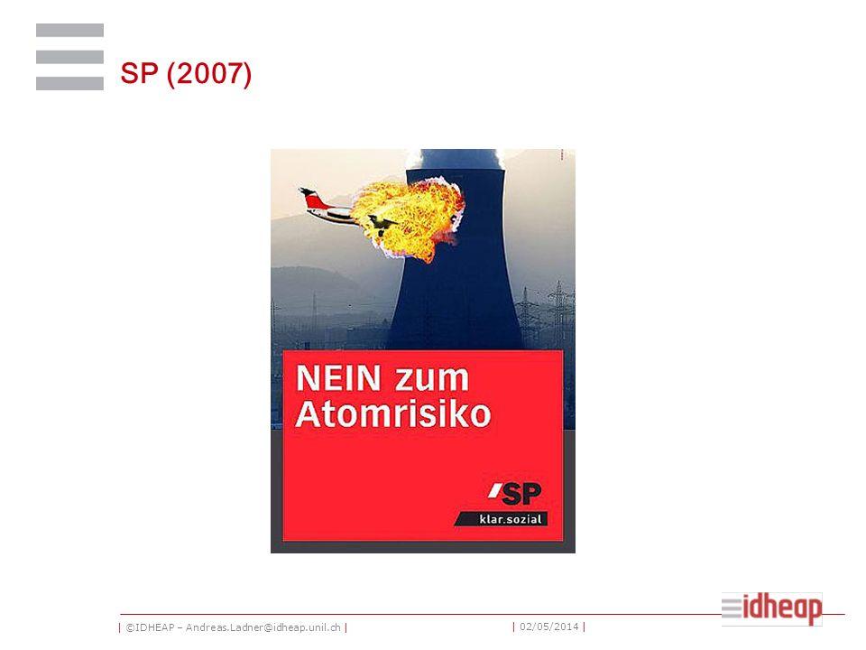| ©IDHEAP – Andreas.Ladner@idheap.unil.ch | | 02/05/2014 | SP (2007)