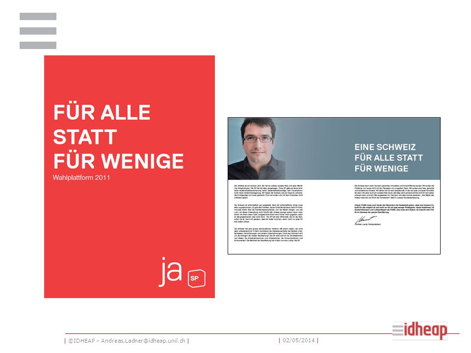 | ©IDHEAP – Andreas.Ladner@idheap.unil.ch | | 02/05/2014 |