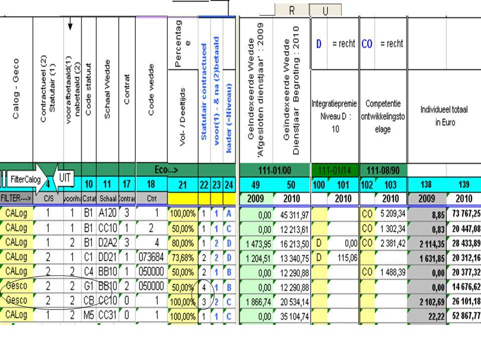 Éléments Barémiques +interprétation Ops/Calog: =>Statutaire/Contractuelle =>Nouvelle Colonne : payé à terme échu/anticipatif =>Pct contenant 6 chiffre