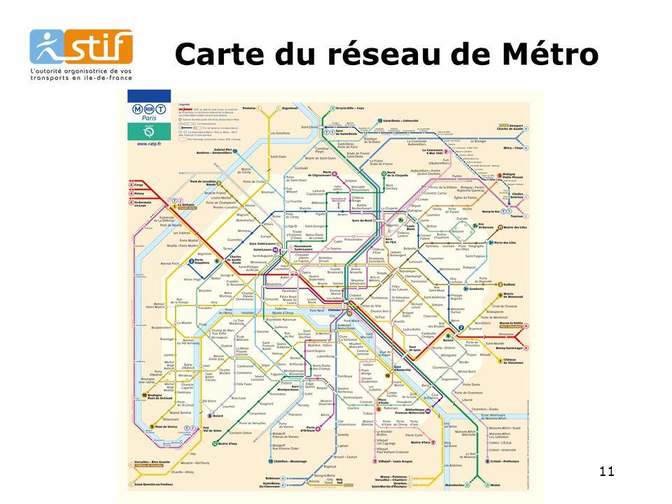 11 Carte du réseau de Métro