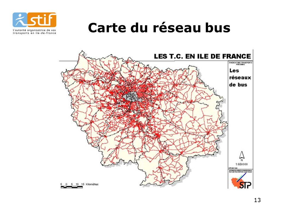 13 Carte du réseau bus