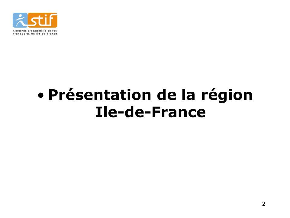 2 Présentation de la région Ile-de-France