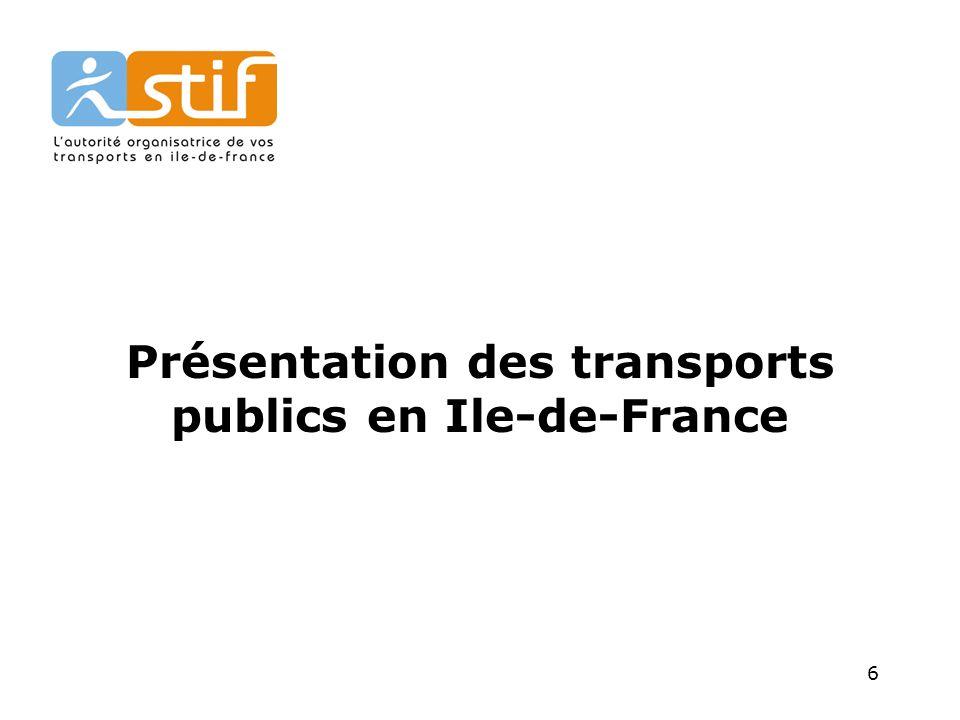 6 Présentation des transports publics en Ile-de-France
