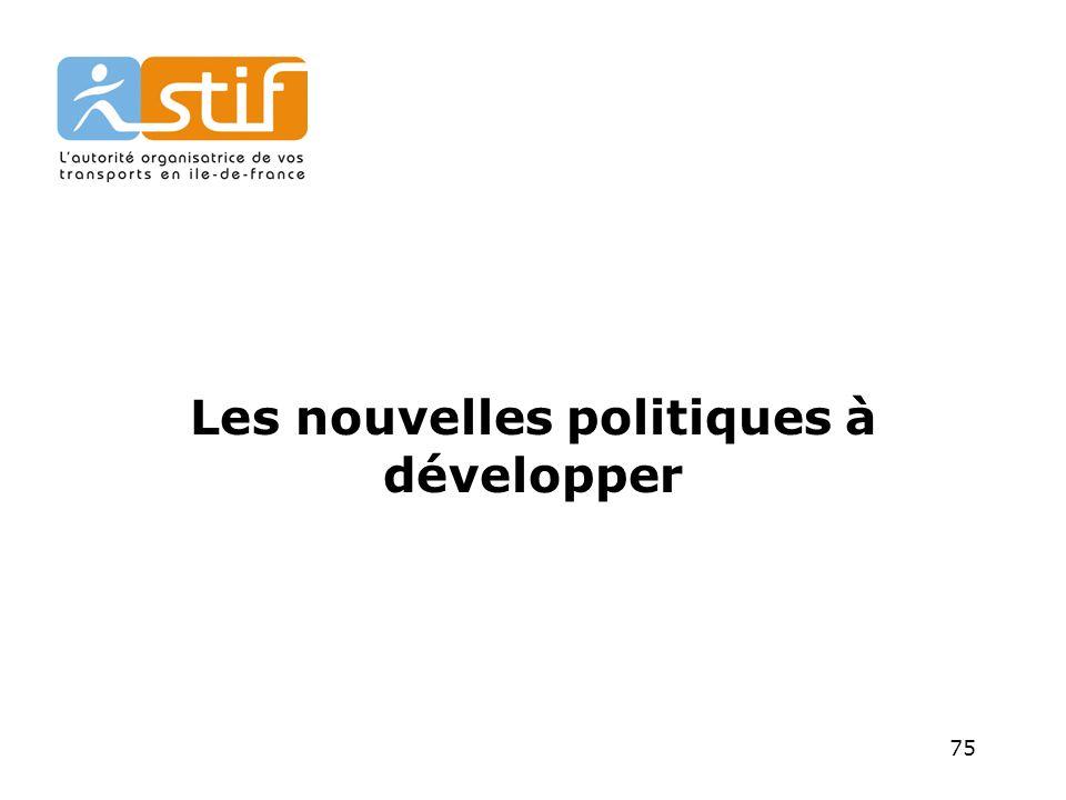 75 Les nouvelles politiques à développer
