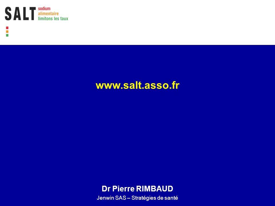 www.salt.asso.fr Dr Pierre RIMBAUD Jenwin SAS – Stratégies de santé