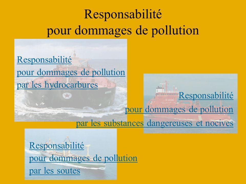 Responsabilité pour dommages de pollution Responsabilité pour dommages de pollution par les substances dangereuses et nocives Responsabilité pour domm