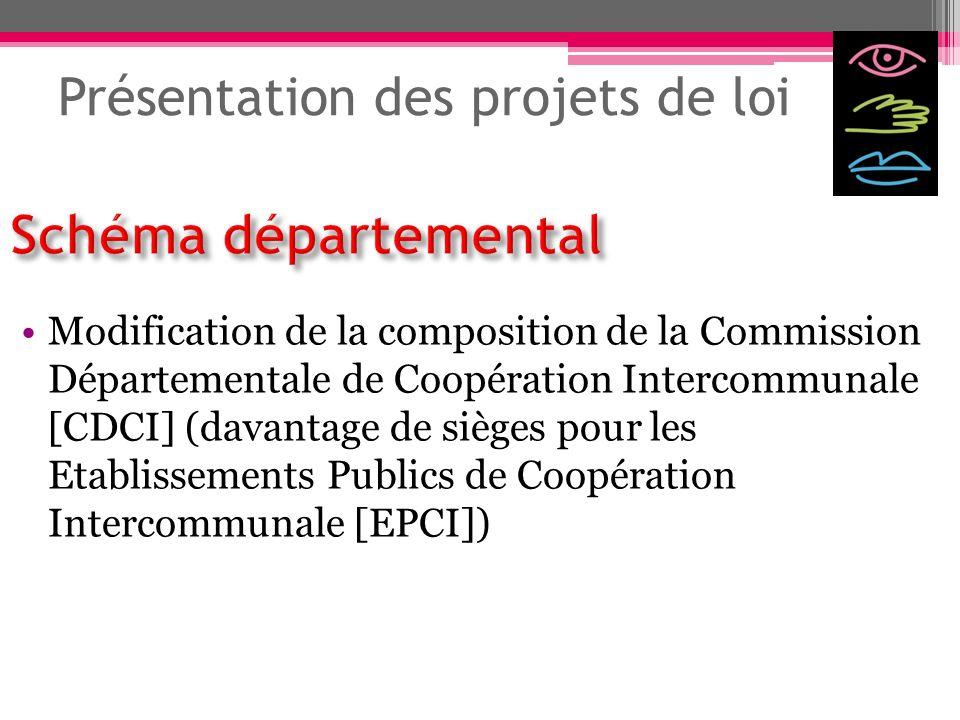 Présentation des projets de loi Modification de la composition de la Commission Départementale de Coopération Intercommunale [CDCI] (davantage de sièg