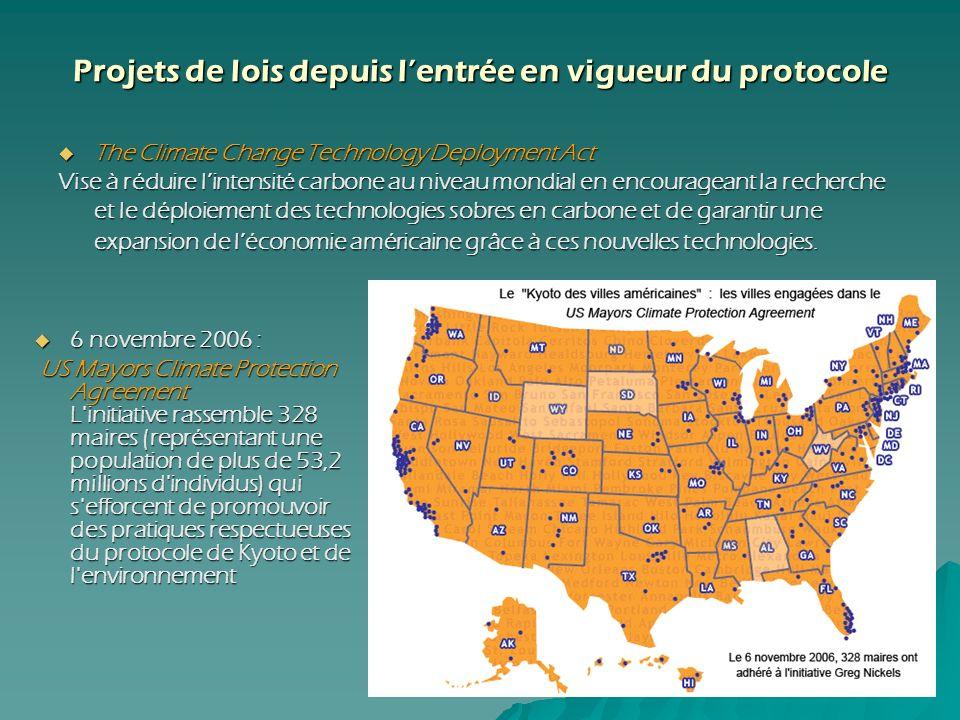 6 novembre 2006 : 6 novembre 2006 : US Mayors Climate Protection Agreement L'initiative rassemble 328 maires (représentant une population de plus de 5