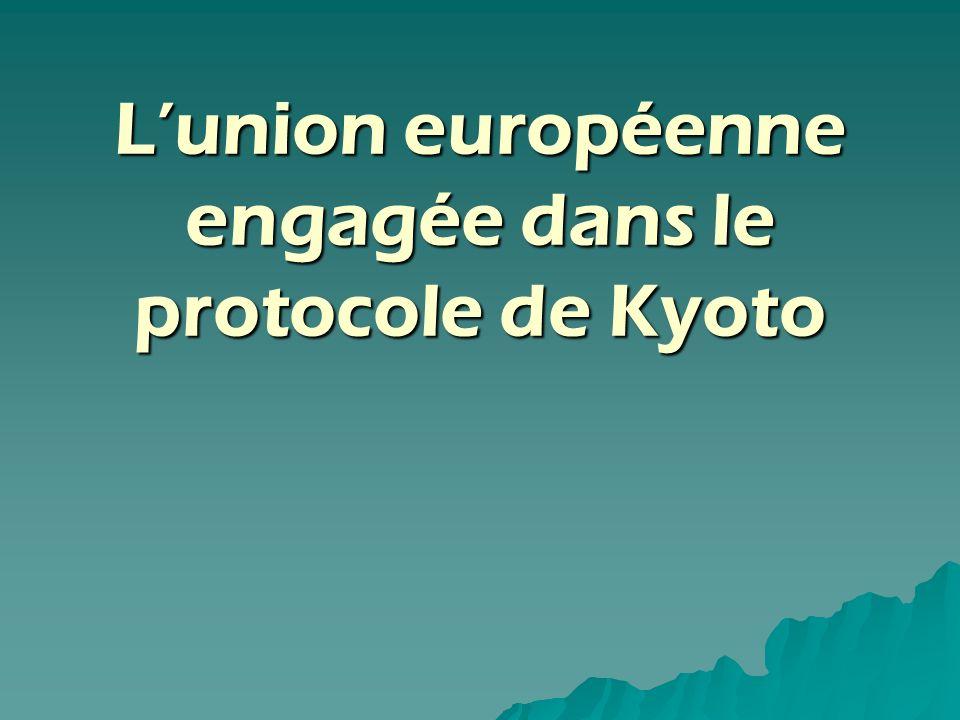Lunion européenne engagée dans le protocole de Kyoto