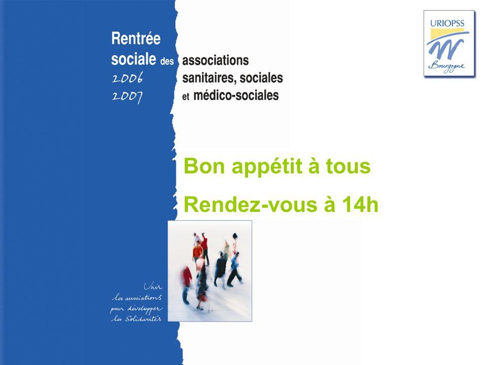 Rentrée sociale 2006-2007 – Uriopss Bourgogne Bon appétit à tous Rendez-vous à 14h
