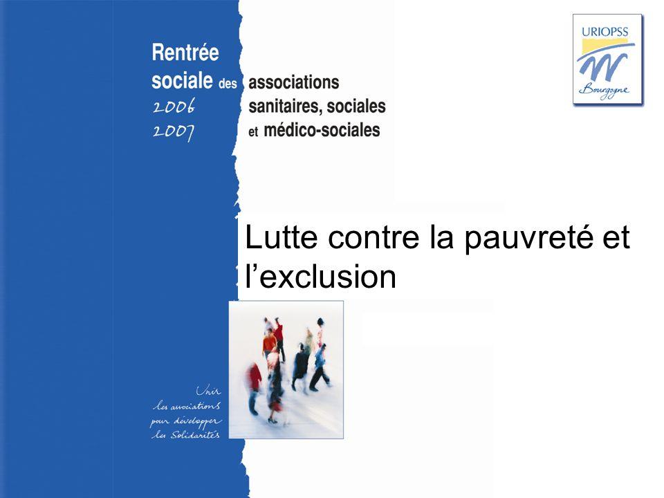 Rentrée sociale 2006-2007 – Uriopss Bourgogne Lutte contre la pauvreté et lexclusion