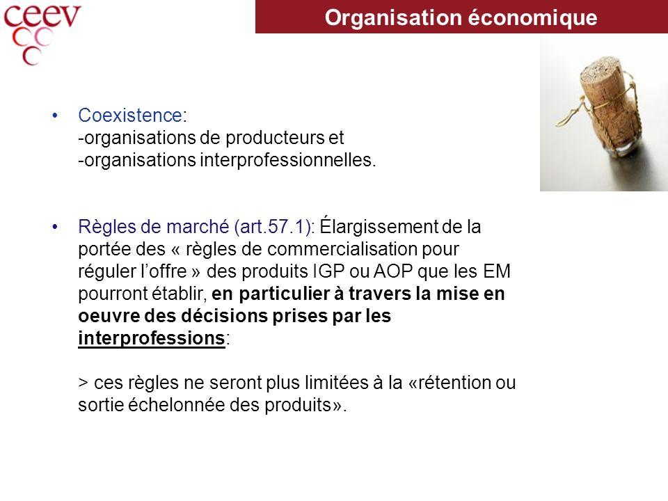 Coexistence: -organisations de producteurs et -organisations interprofessionnelles.