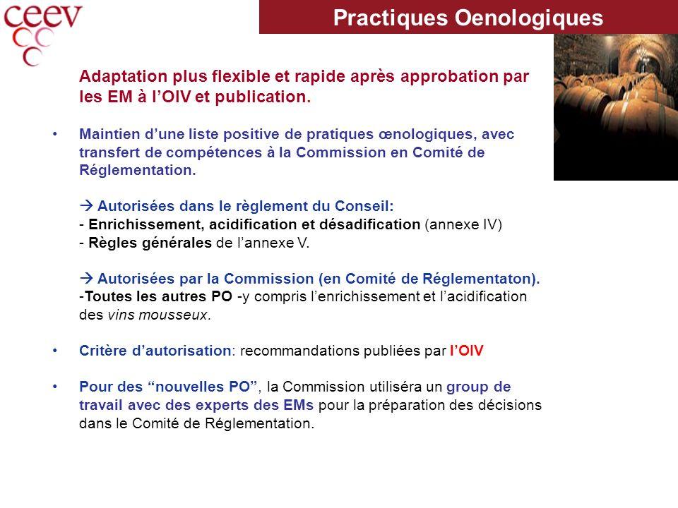 Adaptation plus flexible et rapide après approbation par les EM à lOIV et publication.