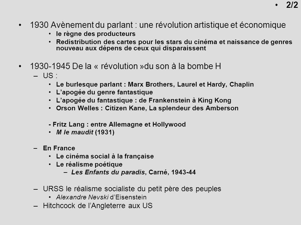 1946-1956 Laprès-guerre / Le temps de la guerre froide –Le néoréalisme en Italie –LAmérique du Maccarthysme 1947 : LActors Studio : Brando, Dean, Newman 1950 : débuts remarqués de Marilyn Monroe