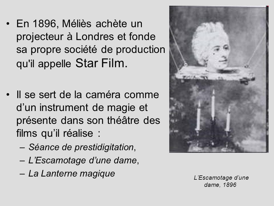 En 1896, Méliès achète un projecteur à Londres et fonde sa propre société de production qu il appelle Star Film.