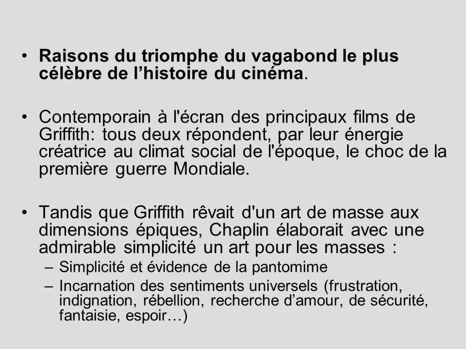 Raisons du triomphe du vagabond le plus célèbre de lhistoire du cinéma. Contemporain à l'écran des principaux films de Griffith: tous deux répondent,