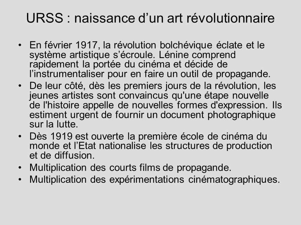 URSS : naissance dun art révolutionnaire En février 1917, la révolution bolchévique éclate et le système artistique sécroule. Lénine comprend rapideme