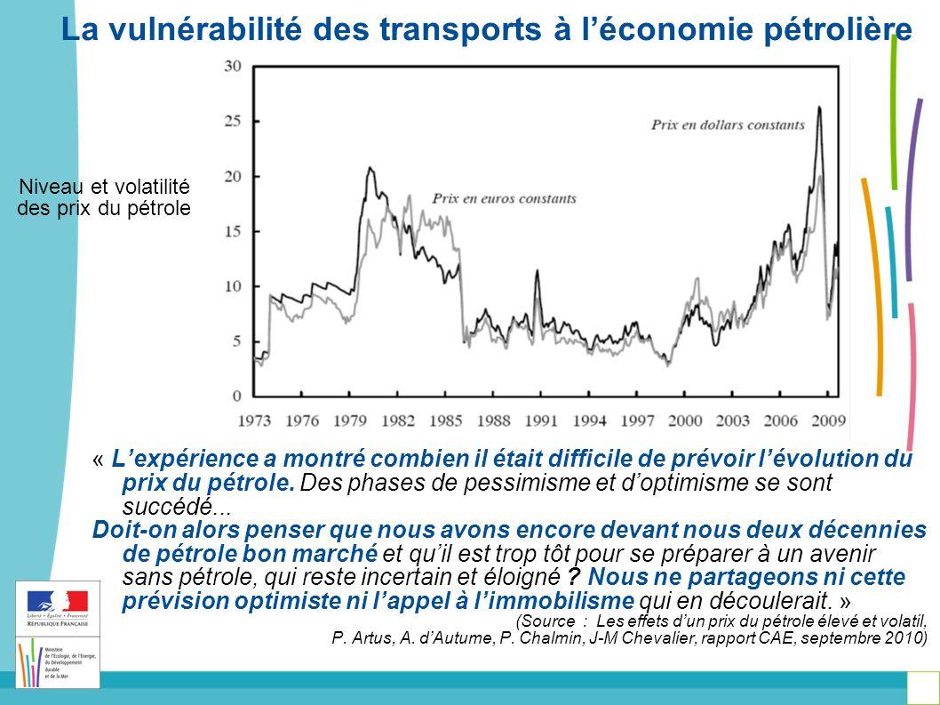 « Lexpérience a montré combien il était difficile de prévoir lévolution du prix du pétrole.