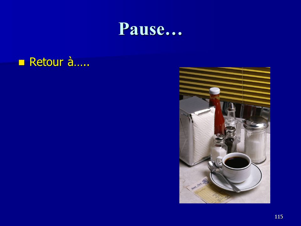 114 Les caractéristiques les plus important des auditoriums selon Beranek CritèreExplicationPoints Intimité acoustique Les premières réflexions <30 msec, un minimum entre 50 msec et 250 msec 40 Clarté RT 60 convenable à 1000 Hz et plus, 15 Chaleur RT 60 convenable à moins de 1000 Hz 15 Volume du son direct Pas trop loin de lestrade, murs réfléchissants en arrière 10 Volume du son réverbérant Assez de volume, absorption adéquate 6 Équilibre entre les instruments Absorption bien répartie dans lavant de la salle 6 Diffusion Les réflexions bien réparties dans la pièce.