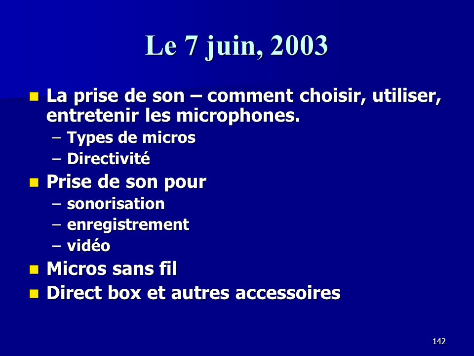 141 Ressources sur linternet Acoustic Sciences Corporation – www.tubetrap.com Acoustic Sciences Corporation – www.tubetrap.com www.tubetrap.com RPG Di