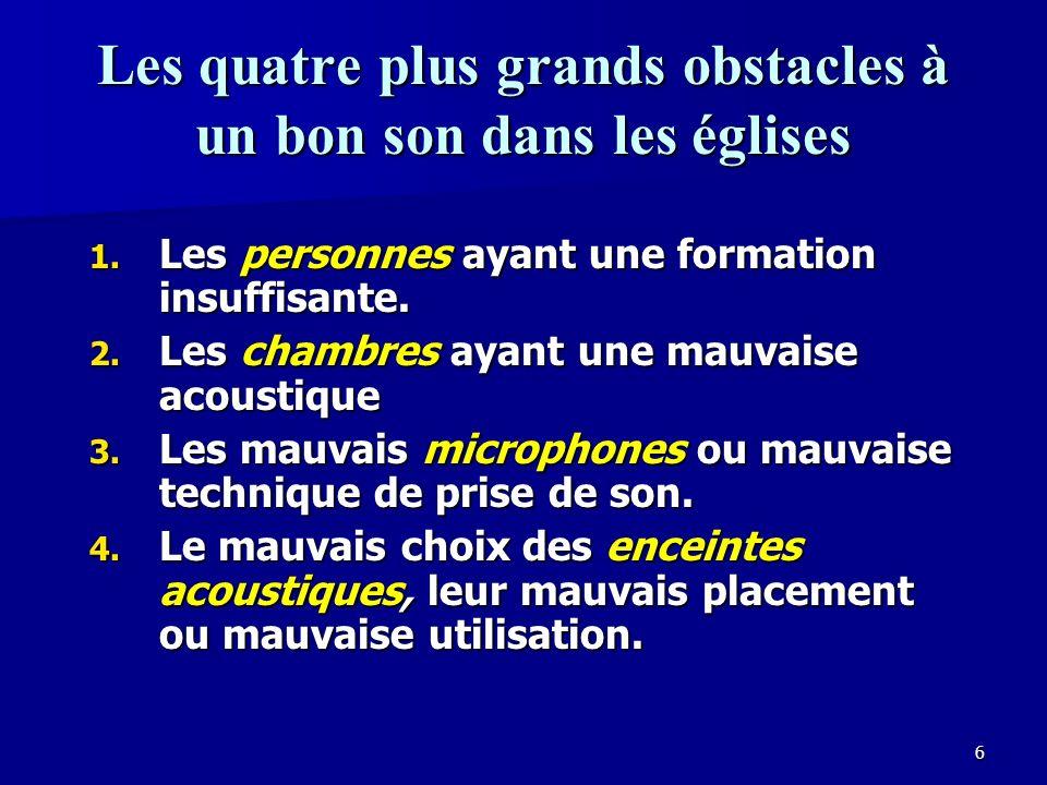 16 Les transitoires sont déterminées par les hautes fréquences Les attaques au début des notes sont le résultat des hautes fréquences.