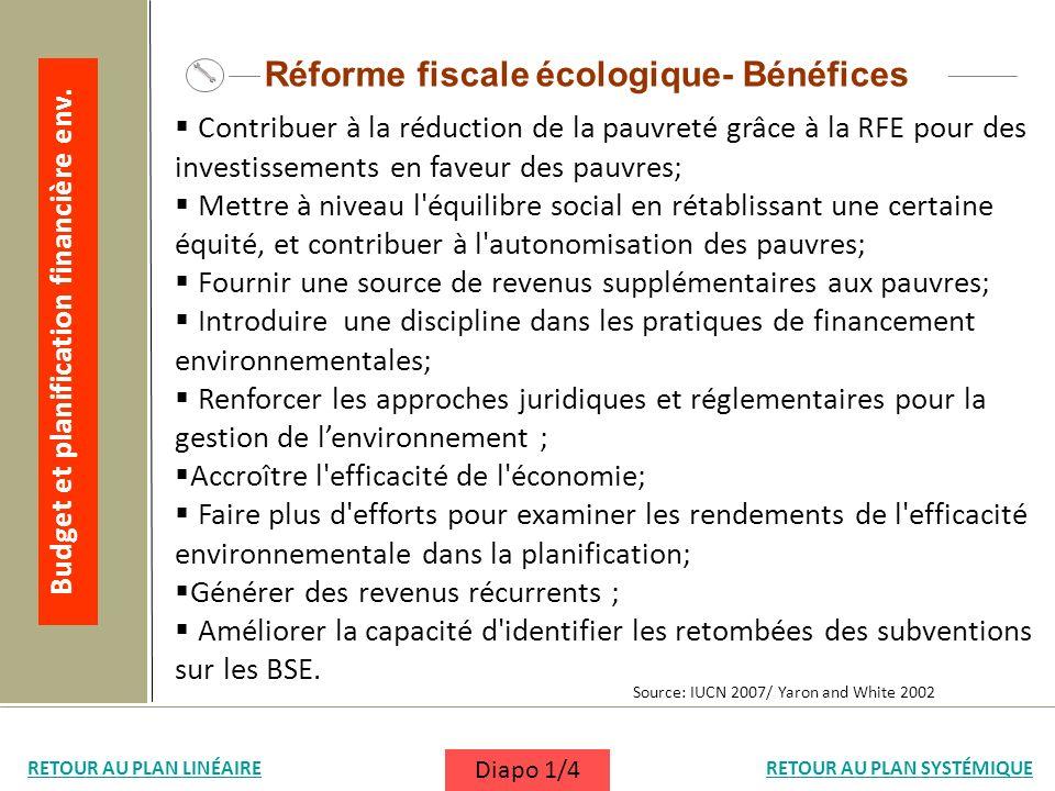 Contribuer à la réduction de la pauvreté grâce à la RFE pour des investissements en faveur des pauvres; Mettre à niveau l'équilibre social en rétablis