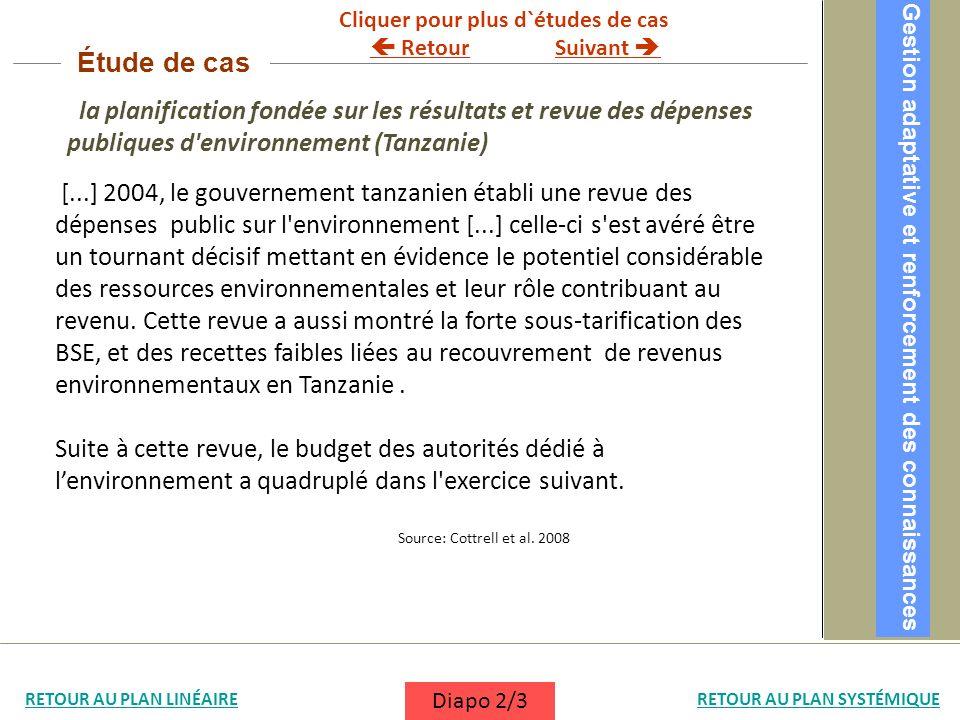 la planification fondée sur les résultats et revue des dépenses publiques d'environnement (Tanzanie) [...] 2004, le gouvernement tanzanien établi une