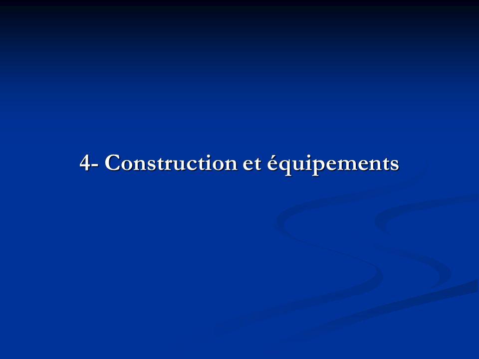 4- Construction et équipements