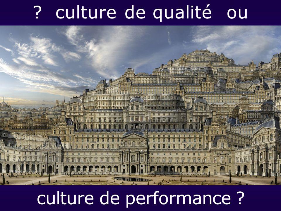 ? culture de qualité ou culture de performance ?