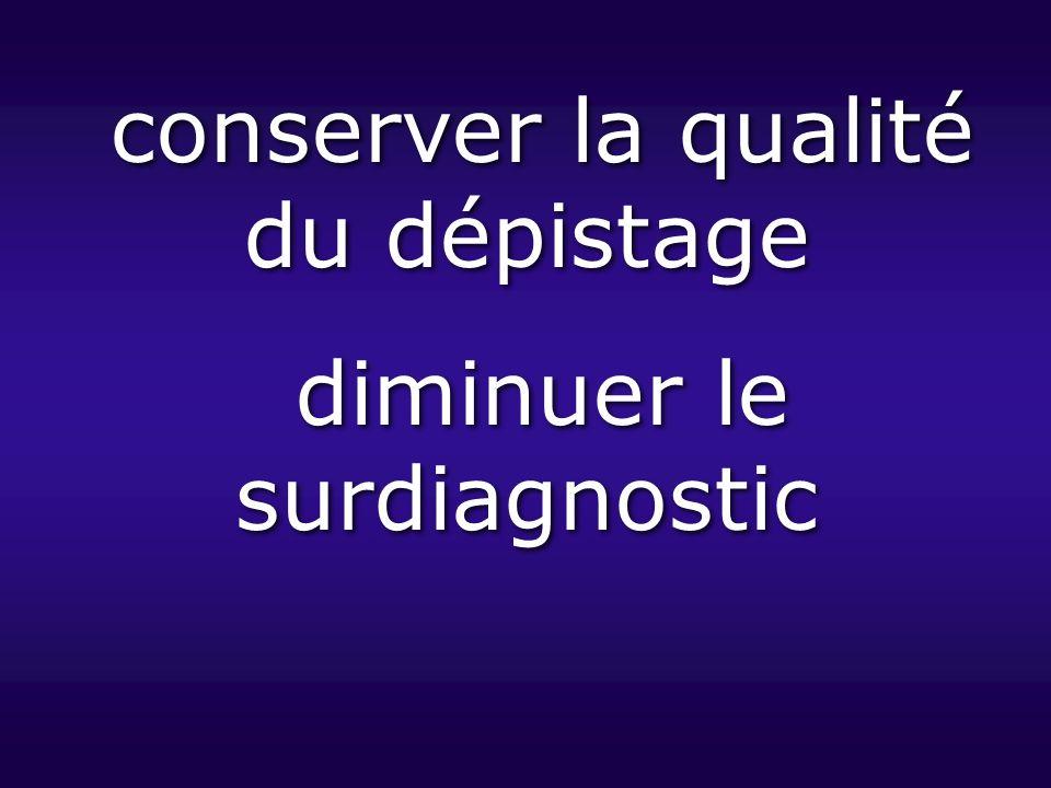 conserver la qualité du dépistage diminuer le surdiagnostic conserver la qualité du dépistage diminuer le surdiagnostic