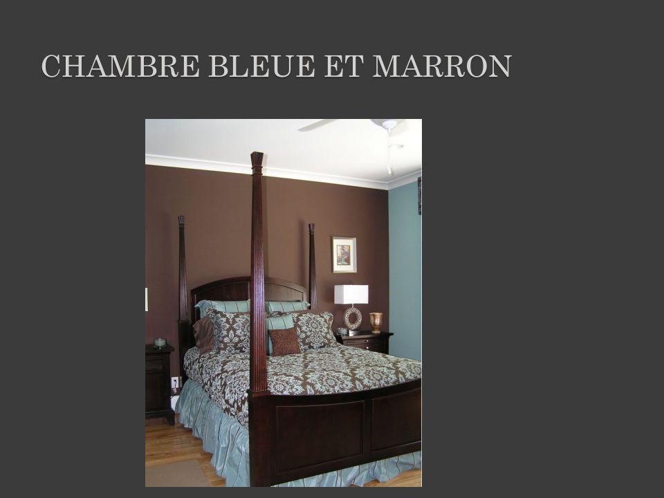 CHAMBRE BLEUE ET MARRON
