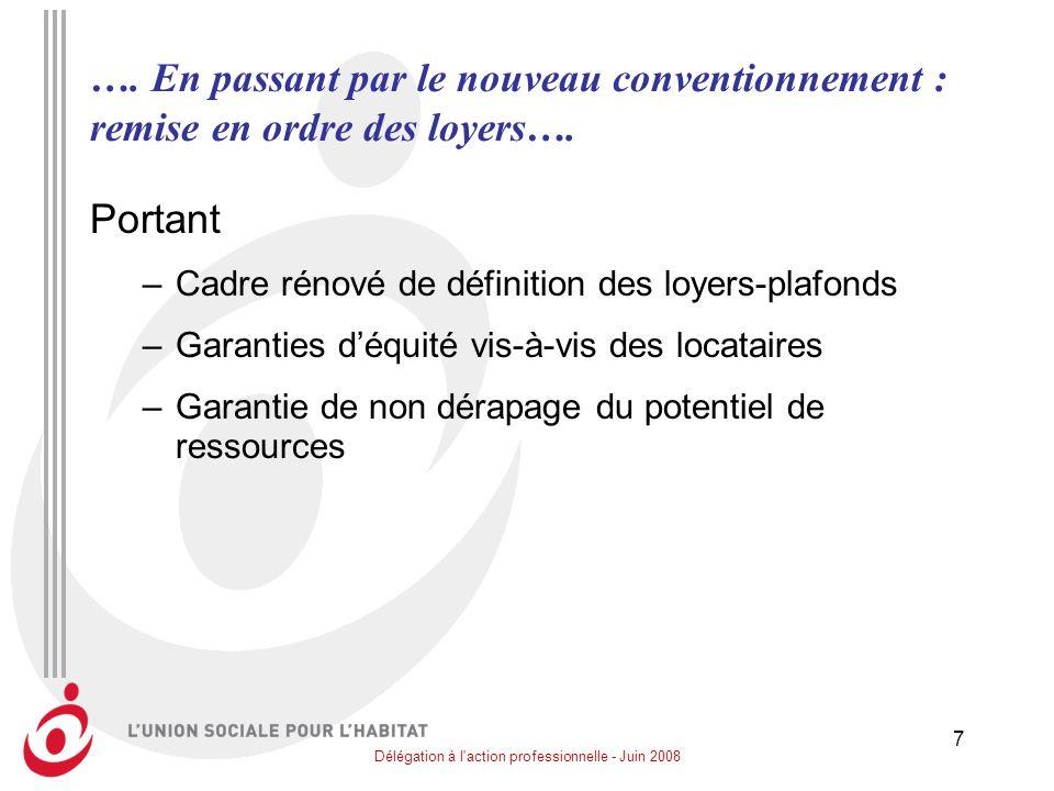Délégation à l action professionnelle - Juin 2008 8 ….