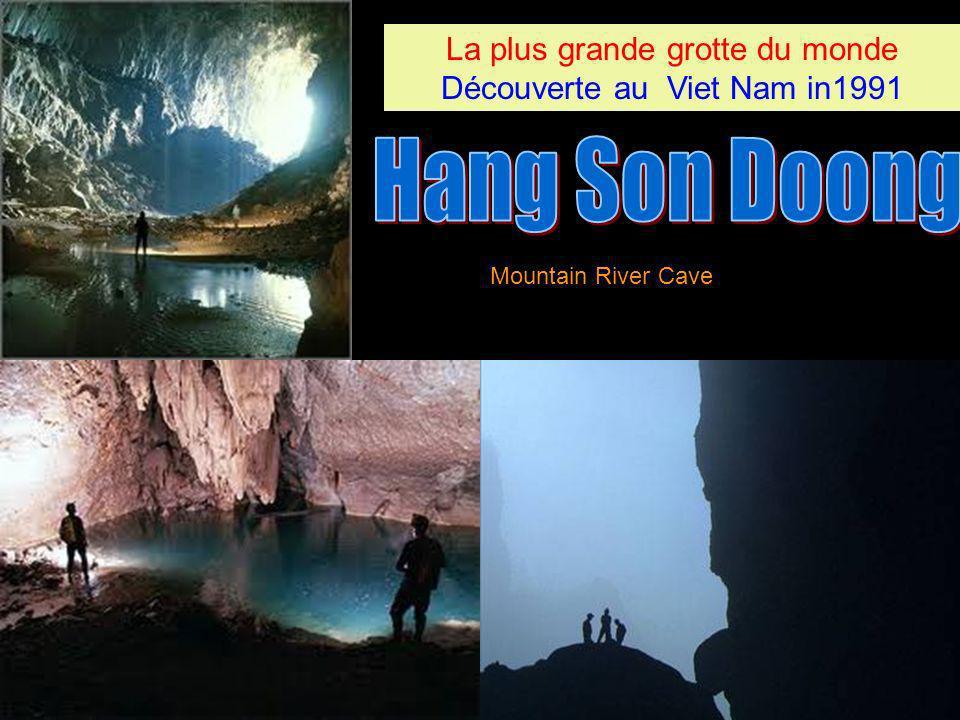 La plus grande grotte du monde Découverte au Viet Nam in1991 La plus grande grotte du monde Découverte au Viet Nam in1991 Mountain River Cave