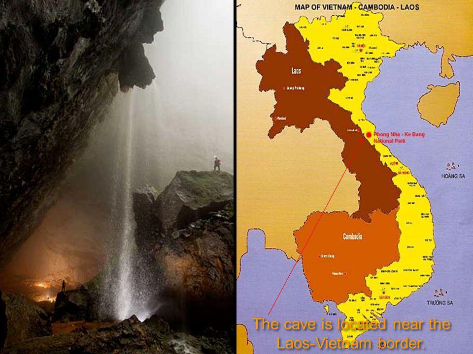Après avoir mis l échelle à la «Grande Muraille du Viet Nam il a été constaté que nous arrivions à la fin de la caverne.