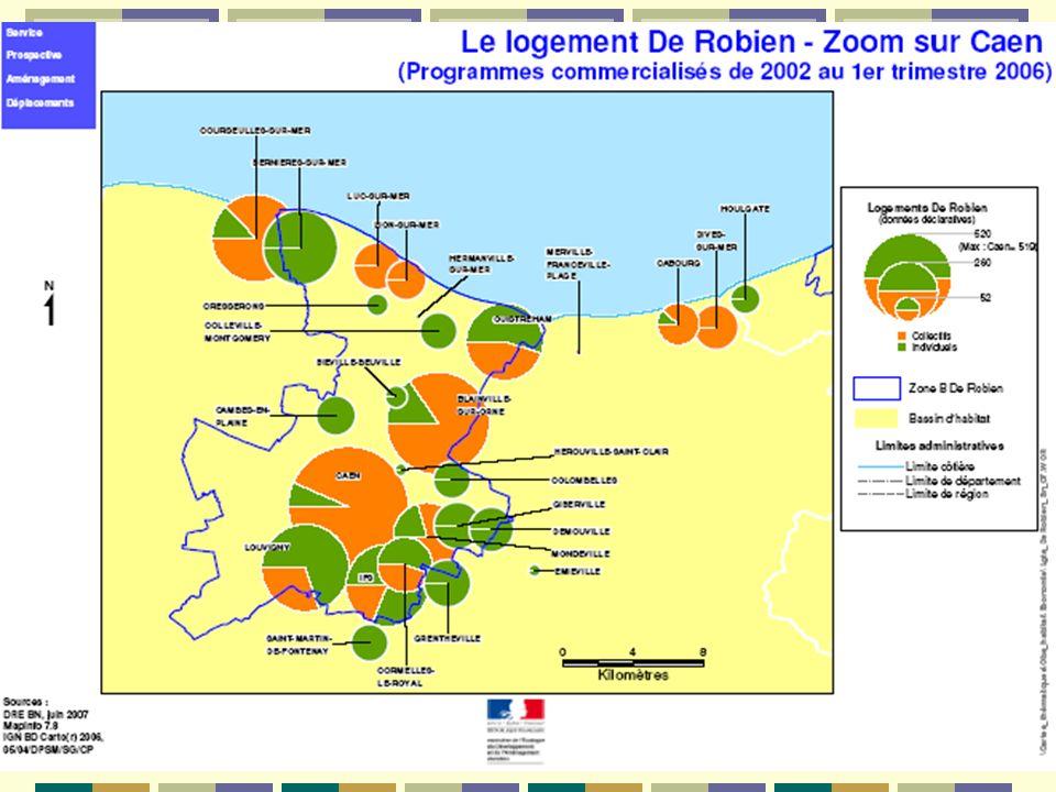 Les résultats à léchelle de la région Nb opérations Nb logements réalisés Nb logements De Robien % Collectif1063 7302 51968 Individuel groupé 961 472 47 TOTAL2025 2023 21862