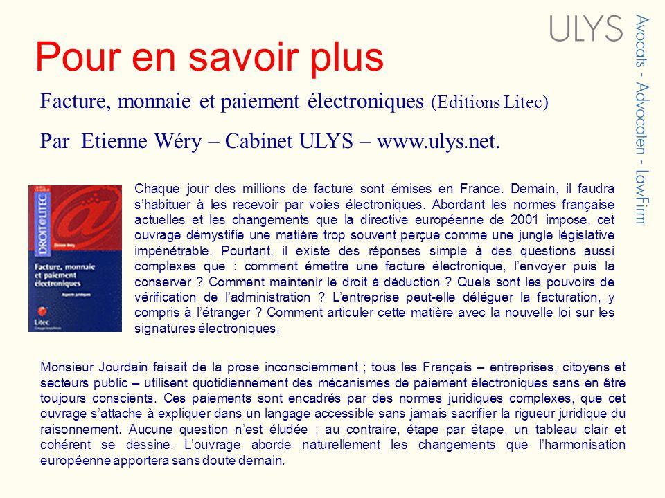 Pour en savoir plus Chaque jour des millions de facture sont émises en France. Demain, il faudra shabituer à les recevoir par voies électroniques. Abo