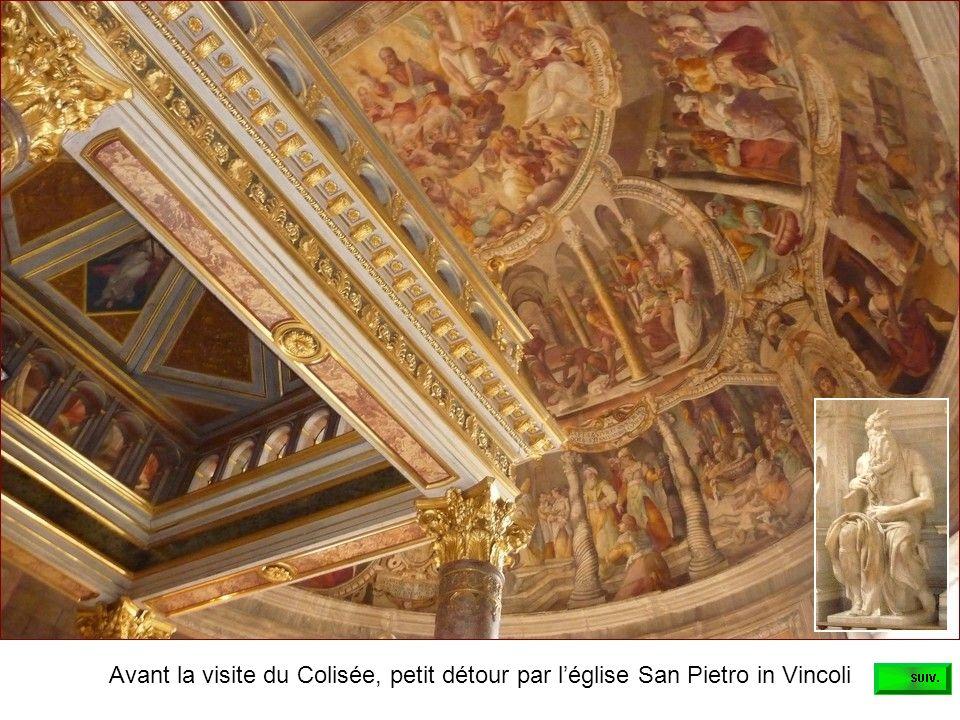 Avant la visite du Colisée, petit détour par léglise San Pietro in Vincoli