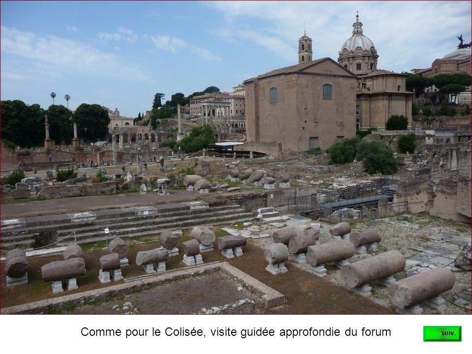 Avant la visite du forum, découverte de la basilique Saint Côme et Damien