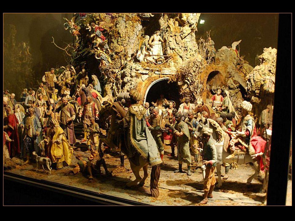 Les bourbon ont toujours Soutenu la vieille Tradition Napolitaine des crèches, Aussi chaque Noël ils En organisaient une Grande dans le palais