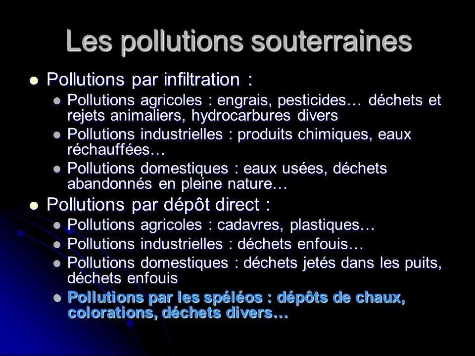 Pourquoi parler de la pollution des spéléos .