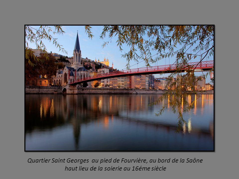 Une vue des toits de ce quartier ou flotte un air de Renaissance Italienne trois quartiers : Saint Georges - Saint Jean et Saint Paul
