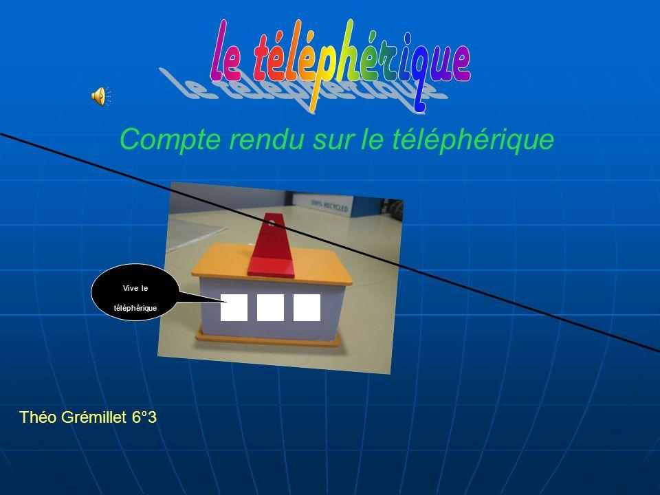 Théo Grémillet 6°3 Compte rendu sur le téléphérique Vive le téléphérique