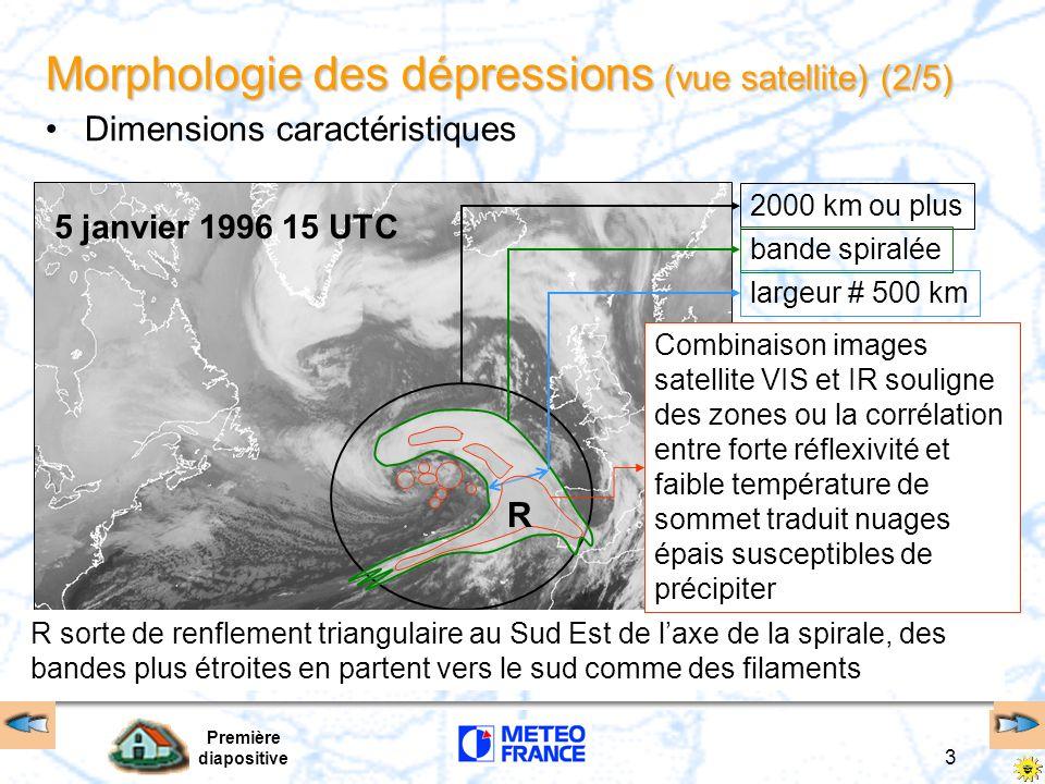 Première diapositive 3 5 janvier 1996 15 UTC Morphologie des dépressions (vue satellite) (2/5) Dimensions caractéristiques 2000 km ou pluslargeur # 50