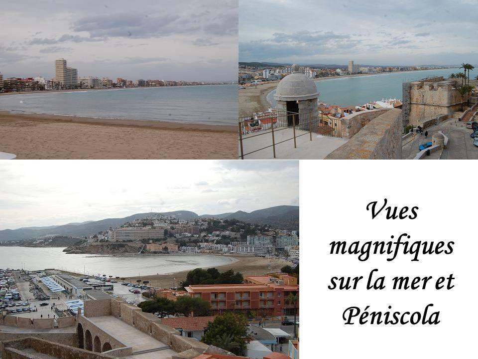 Vues magnifiques sur la mer et Péniscola