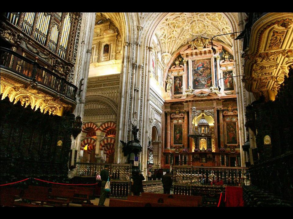 Cordoba: A huge magnificent Mosque converted into a magnificent beautiful Cathedral.