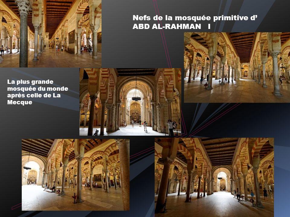La Mosquée-Cathédrale Panoramique de la salle de prière Colonnes, piliers et pierres des différents édifices romains et wisigothiques d Espagne, d Eur