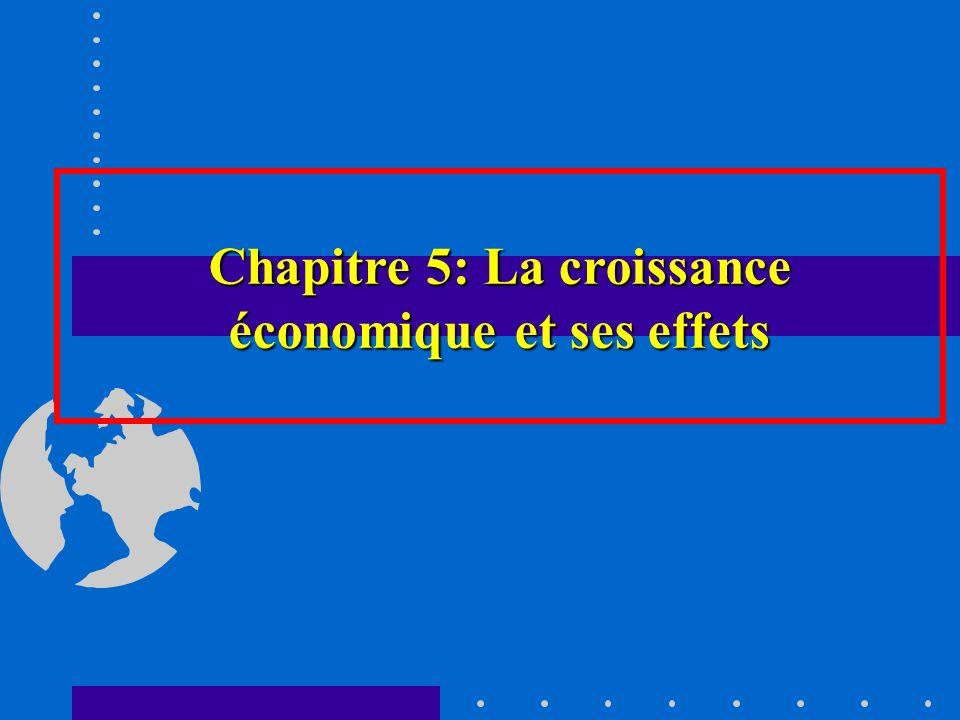 Chapitre 5: La croissance économique et ses effets